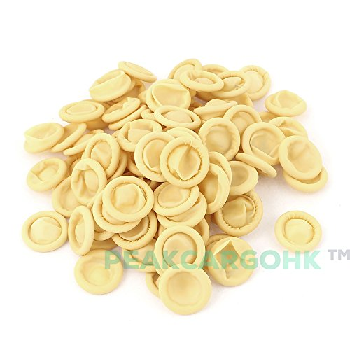1000 pcs Nitrile Anti Static Rubber Finger Cots Natural Yellow MALAYSIA - Wound protection or Industrial uses by SIG (Image #2)