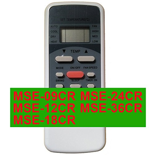 Replacement for Ecox Starligth Air Conditioner Remote Control Model Number MSE-36CR MSE-24CR MSE-18CR MSE-12CR MSE-09CR