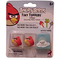 Angry Birds Tiny Toppers 3 pack: 2 Red Birds 1 Mystery