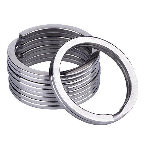 Outus 32 mm Titanium Key Rings Split Rings, 5 Pack