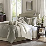 Madison Park 7 Piece Comforter Set, Queen - Natural