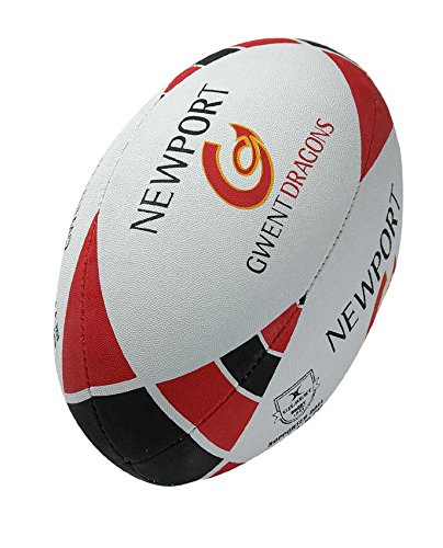 GILBERT Newport Gwent Dragons Replica Supporter Rugby Ball, 4