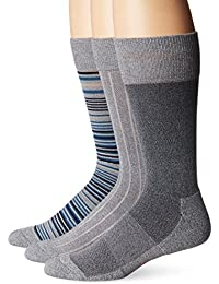 Men's 3 Pack Ultimate Fit - Elevated Dress Allover Stripe Crew Socks