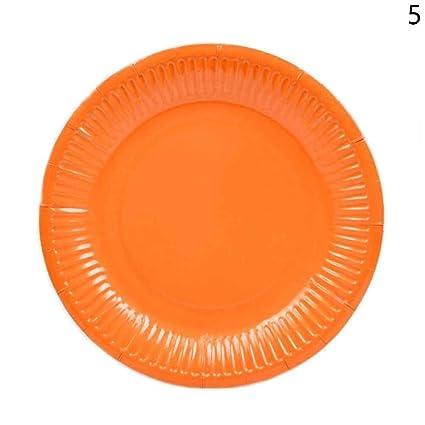 happyquda 10pcs Ronda Party platos de papel 18 x 18 cm vajilla eventos Catering platos desechables
