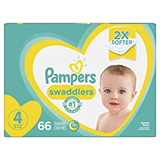 Pampers Swaddlers, Baby Diapers, Size 4, 66 Ct