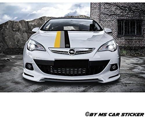 Opel Motorsport Performance Zier Streifen Auto Aufkleber Sticker Tattoo Folie Decor Set 130x8 Cm Auto