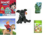Childrens Gift Bundle - Ages 3-5 [5 Piece] - Ni Hao Kai-LAN Edition Memory Game - Sky High Hopper Garden Starter Set - TY Beanie Baby - Luke The Black Lab - When I Grow UpHardcover Book - We Can