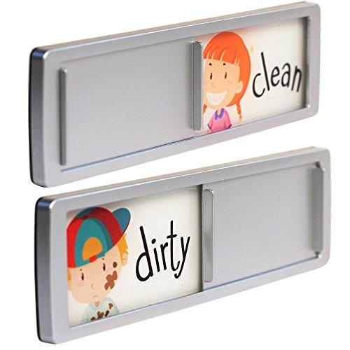 Joy Magnets Dishwasher Magnet Clean Dirty Dishes Sign Slide Indicator Dishwashing Reminder for Kitchen Includes 2 Fridge Magnets and 1 Year Warranty