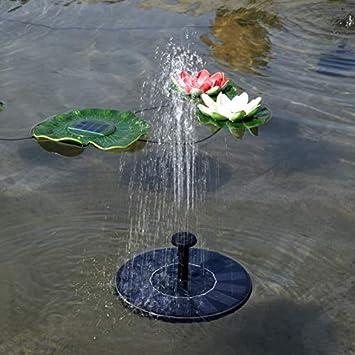 Color : As The Picture Shows XSYYQYLL Fontana Solare Allaperto Solar Powered Fontana Pool Lago Stagno Mini Fontana di Acqua della Pompa Acquario Giardinaggio Giardino Decorazione