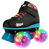 Crazy Skates Dream Roller Skates for Girls and Boys | LED Light-up Wheels | Available in Pink or Black