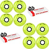 Labeda Inline Roller Hockey Skate Wheels Addiction Yellow 72mm 8 Set Bones Swiss