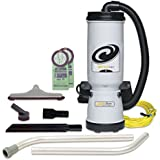 ProTeam Backpack Vacuum 105896 Megavac 10 Quart Commercial Vacuum Backpack with Blower Tool & Hard Surface Horse Hair Brush Tool Kit
