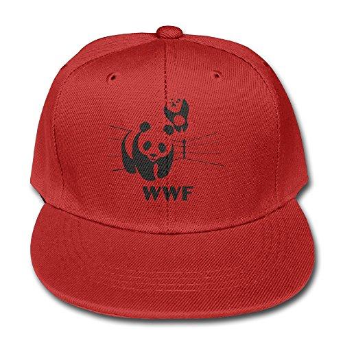 world-wildlife-fund-logo-cotton-baseball-cap-boys-girls-snapback-hip-hop-flat-hat-red