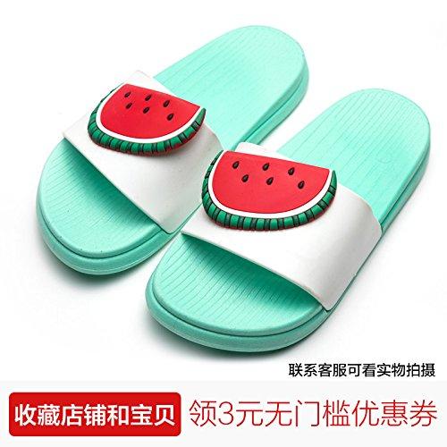 sandía una de y Verano de nbsp;El Fankou verde baño familia fruto antideslizante tres precioso 22cm de cool interiores zapatillas parejas suave inferior femenino arrastre a casa 230 q4qZTpB