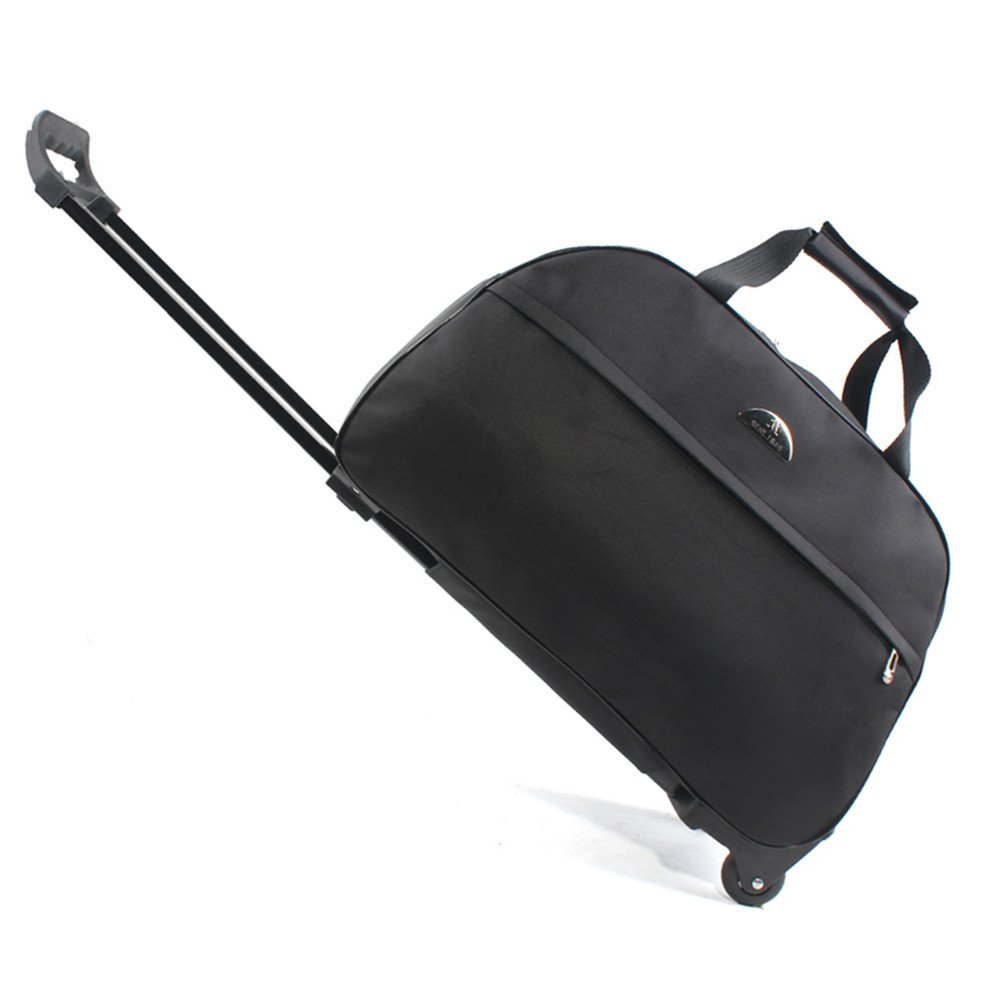 SENLI Luggage 20 Inch Rolling Duffle trolley bag travel bag tote Carry-On black by SENLI (Image #1)