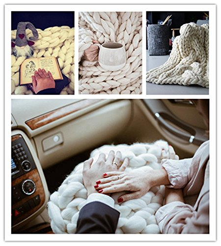 HomeModa HomeModa Knit Blanket Throw Soft Rug Sofa Bed Lounge Decorator Knitted Small Size Pet Bed Mat Rug (Throw: 85x160 cm, White) price tips cheap