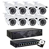 GW 8 Channel 4K NVR 8MP (3840×2160) H.265 PoE Security Camera System – 8 x UltraHD 4K 2.7~13.5mm Varifocal Zoom 196ft IR 2160p IP Cameras – 8 Megapixel (Four Times The Resolution of 1080p Full HD) Review