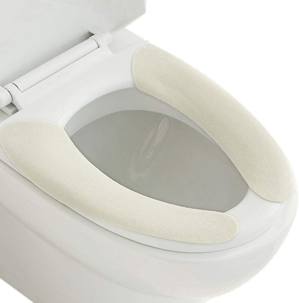 YoungerY 1 Confezione 2 Pezzi Tinta Unita in Pelle Scamosciata Sedile del Water Cuscino Pad Pasta WC Sedile del Water WC Pasta - Rosa