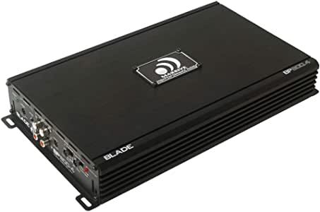 Massive Audio Blade BP800.4 Car Stereo Amplifier. 4 Channel Amplifier 800 Watts, Class A/B, 2 Ohm Stable, with Bass Boost. The Best 4-Channel Car Amplifier with Built-in OEM Line Converter