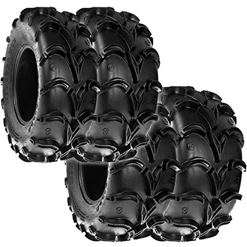 Sun.F A050 ATV Off Road Mud Trail Tires 25x8-12 Front & 25x10-12 Rear, 6 Ply