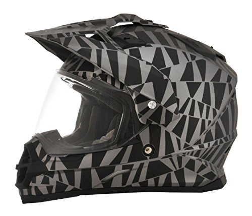 AFX FX-39DS Dazzle Dual Sport Mens Motorcycle Helmets - Medium