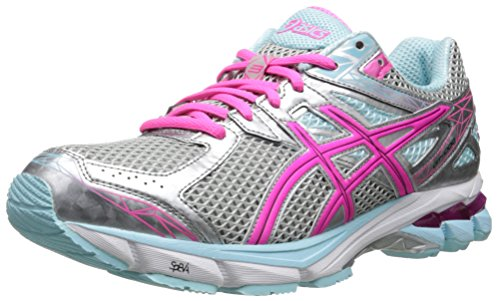 ASICS Women's GT-1000 3 Running Shoe,Lightning/Hot Pink/Mint,6 D US - 3 Plus Womens Running Shoes