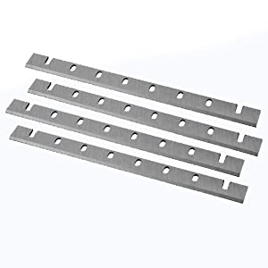 POWERTEC Heat Treated M2 HSS Planer Knives for DeWalt 733, 4 Blades | 12.5 Inch Dual Sided Replacement Planer Blades DW7332–2 Sets | 4 Blades