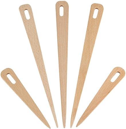 outils de couture free size Voir image travaux manuels travaux manuels travaux manuels travaux antiques Lot de 5 aiguilles /à tisser en bois pour m/étier /à tisser gros chas tapisserie lisse