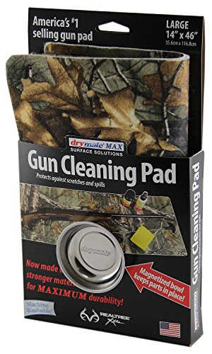 Drymate GP1446MRT Rifle Shotgun Size Realtree Xtra Gun Cleaning Pad with Magnetic Bowl, 14