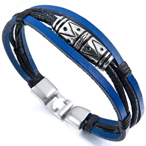 INBLUE Genuine Leather Bracelet Vintage