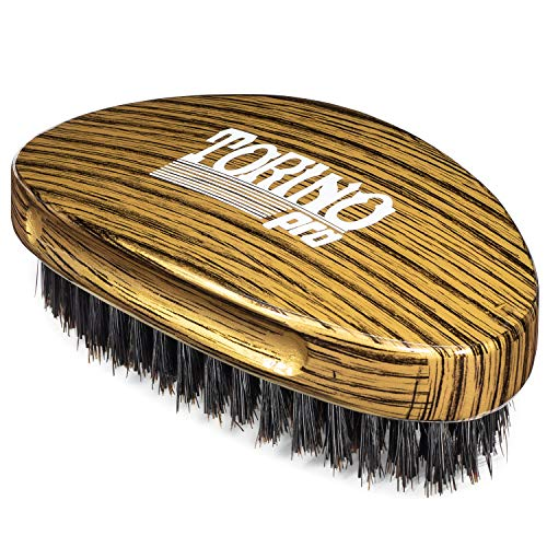 (Torino Pro Medium Hard Palm Curve Wave Brush By Brush King - #1780-360 Curved Medium Hard Palm - Great for Wolfing - For 360)