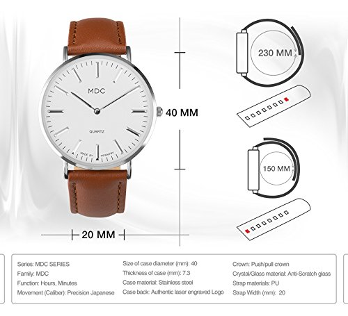 MDC-Mens-Brown-Leather-Watch-Simple-Slim-Business-Casual-Analog-Wrist-Watches-for-Men