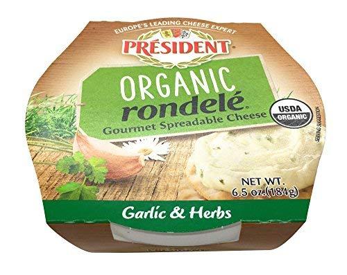 President, Rondele Spreadable Garlic Herbs Organic, 6.5 Ounce