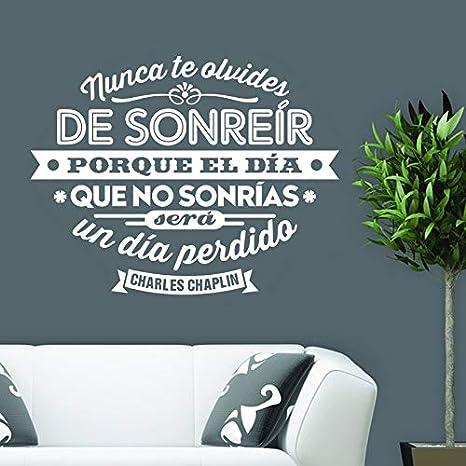 España Charles Chaplin cita vinilos de pared adhesivos murales de arte sala de estar y dormitorio decoración para el hogar decoración de la casa 46x60 cm: Amazon.es: Bebé