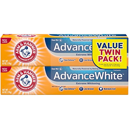 Arm & Hammer Advance White Extreme Whitening Toothpaste, 6 oz Twin Pack (Packaging May (White Toothpaste)
