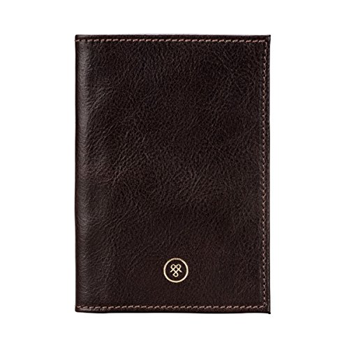 Maxwell Scott Personalized Brown Italian Leather Passport Cover (Prato) by Maxwell Scott Bags