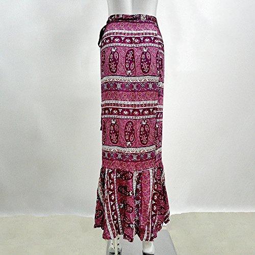 Jupe Style Oudan Swing Bohme Maxi Femmes Lnag Taille Haute Femmes Ceinture Rouge Jupe wq6t6x5BFW
