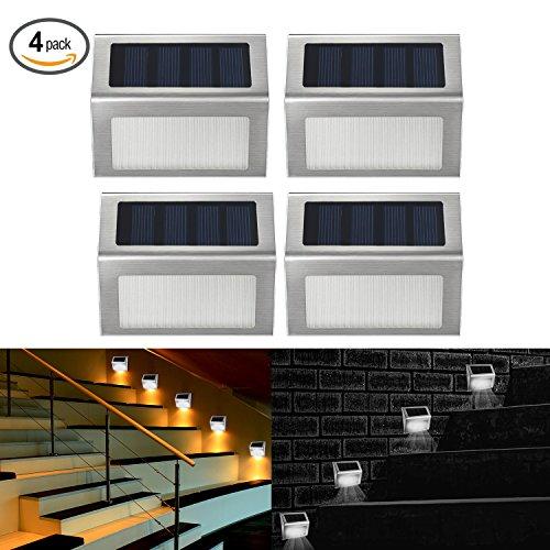 Stainless Steel Blue Solar Deck Lights