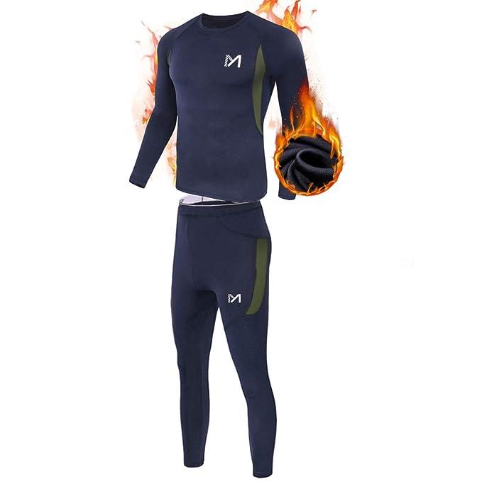 Amazon.com: Conjunto de ropa interior térmica para hombre ...