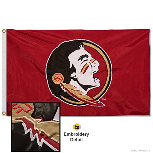 Florida State Seminoles Embroidered and Stitched Nylon Flag