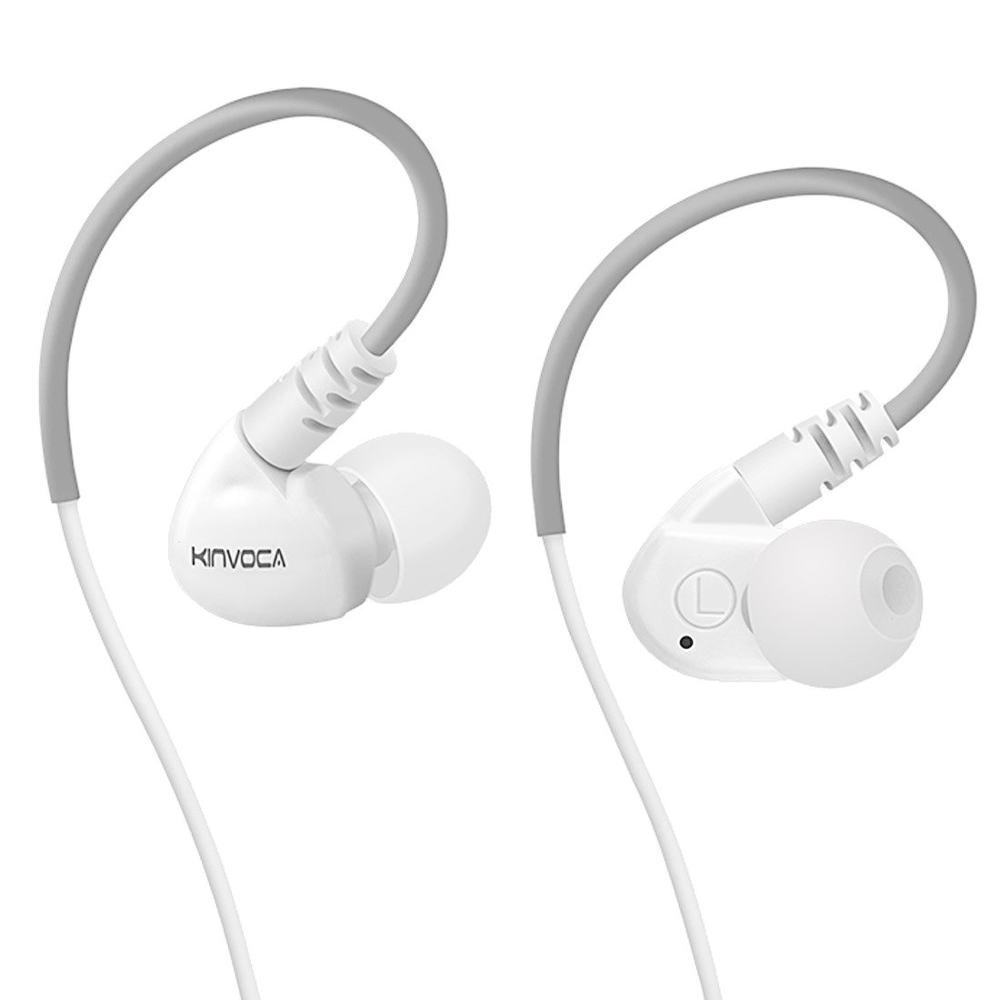 Auriculares KINVOCA Sweatproof Sports Workout Earphones para Correr Gym Exercise Jogging Con Cable Earhook con Volume Re