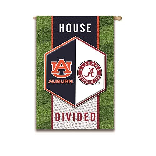Team Sports America Auburn vs Alabama House Divided Suede House Flag