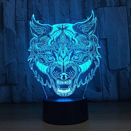 QRFDIAN Personalidad Creativa Bar Decoración Atmósfera Leopardo Colorido 3D Gradiente Plug-in Touch Luz de Noche Lámpara de Mesa Luz de Halloween Regalo de Luz (Color : Enamel) -