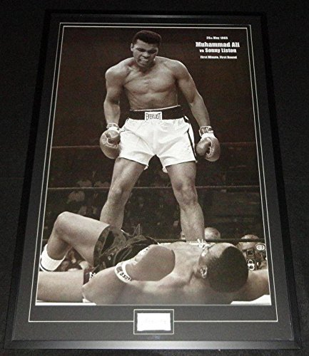 Muhammad Ali Signed Photo (Signed Muhammad Ali Picture - Framed 28x41 Poster Display Full LOA - JSA Certified - Autographed Boxing Photos)