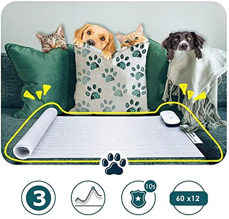 DOG CARE Pet Shock Mat Pet Training Mat for Cats Dogs 60 x 12 Inches, 3 Training Modes Pet Shock Pad Indoor Use, Keep Dogs Off Couch LED Indicator Intelligent Safety Protect