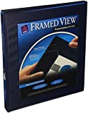 "Avery Framed Presentation Non Locking Slant Ring View Binder, 0.5"" Capacity, Navy Blue (68051)"