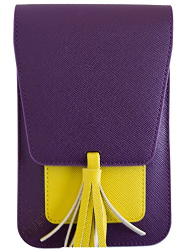 Fashion Purple Accessories (Harper Crossbody - Purple/Yellow)