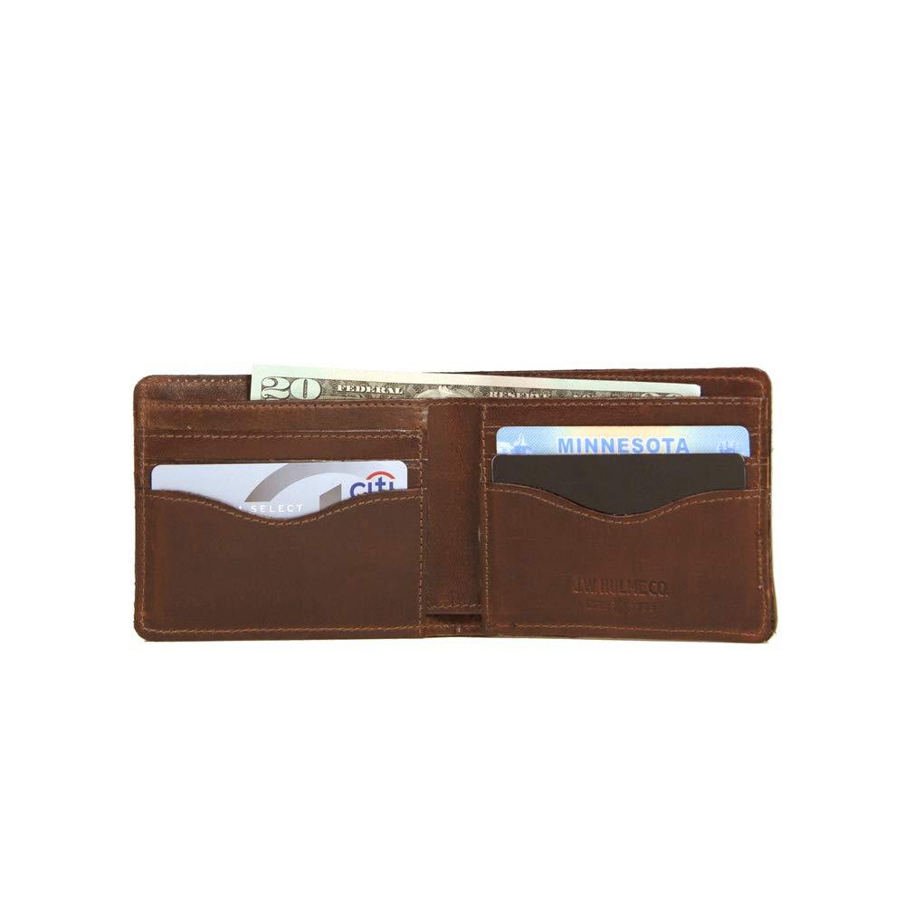 Durable J.W American Heritage Hulme Classic Bifold Leather Wallet Full-Grain