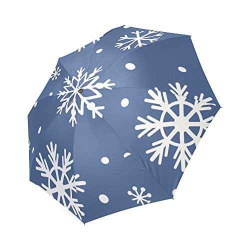 [Christmas SnowFlake 100% Polyester Pongee Waterproof Foldable Travel Fashion Umbrella] (2 Elves Dog Costume)