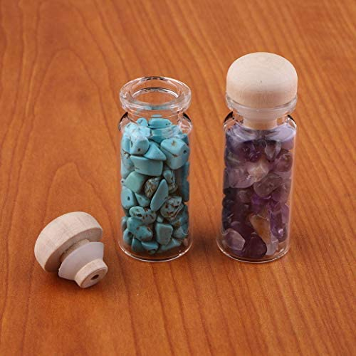 Perle intermedie con Bottiglia di Vetro chiwanji per bricolage Perle finte Gioielli Set di 12 Perline da infilare Pietre preziose